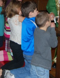 Children at altar 2-11-15