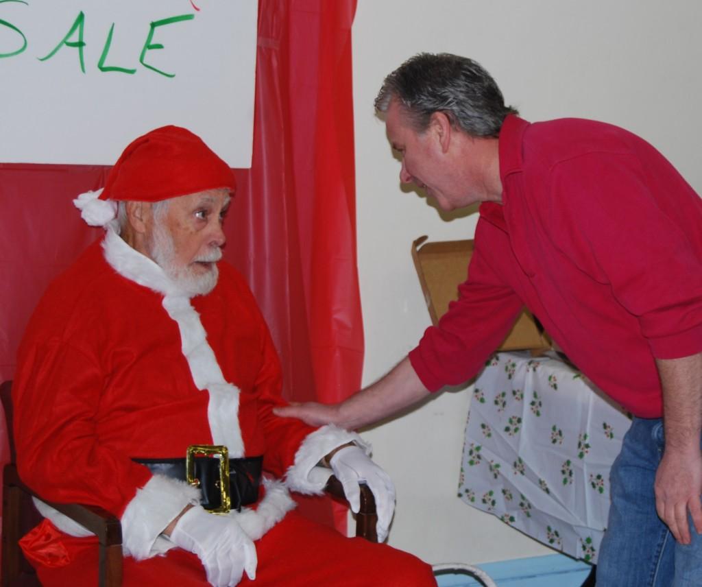 Santa Sale Fr. John w Santa 12-5-15
