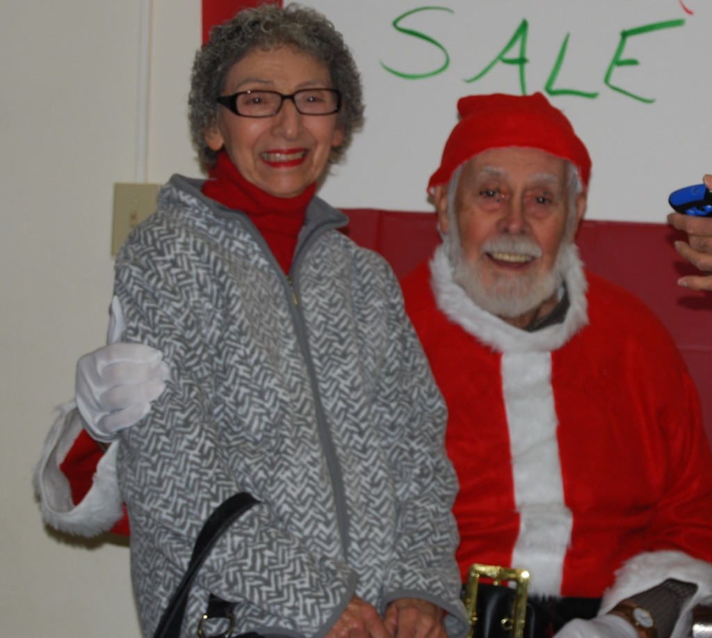 Santa Sale Santa with Betty Leo 12-5-15